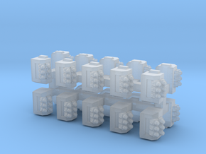 6mm Bolter Sponsons (10pcs) in Smooth Fine Detail Plastic