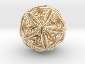 Icosasphere w/ Nested Stellated Dodecahedron in 14K Yellow Gold
