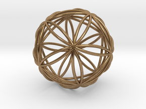 """Icosasphere 1.8"""" in Natural Brass"""