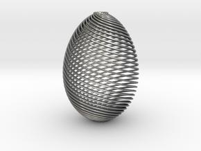 Designer Egg in Natural Silver