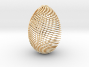 Designer Egg in 14k Gold Plated Brass
