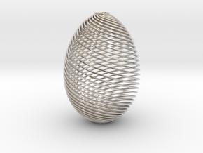 Designer Egg in Rhodium Plated Brass