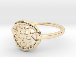 Dreamcatcher Ring in 14k Gold Plated Brass: Medium