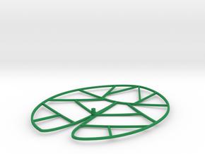 Lotus leave in Green Processed Versatile Plastic
