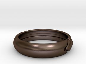 Atlantis ring in Polished Bronze Steel: 7 / 54