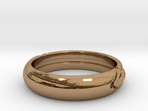 Atlantis ring in Polished Brass: 7 / 54