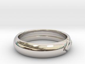 Atlantis ring in Rhodium Plated Brass: 10.5 / 62.75