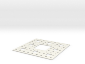 Sierpinski carpet Level 3 in White Natural Versatile Plastic