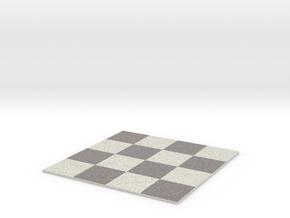 Chess Board colored in Full Color Sandstone