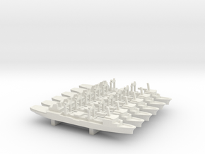 Durance-class tanker x 6, 1/3000 in White Natural Versatile Plastic