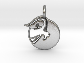 Astrology Zodiac Capricorn Sign in Natural Silver
