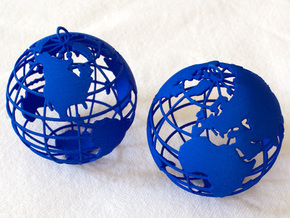 Planet Earth in Blue Processed Versatile Plastic