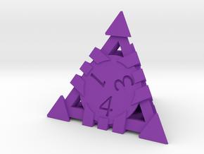D4 - Andrew Bell 3d - Geometric Design 1 in Purple Processed Versatile Plastic