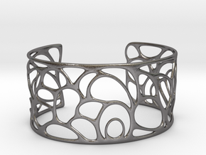 Abstract Bracelet  #11 in Polished Nickel Steel