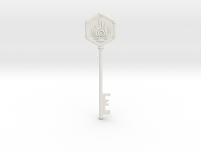 Resident Evil 0: Fire Key in White Natural Versatile Plastic