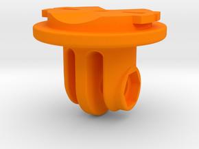 GoPro / Garmin Quarter-Turn Adapter Mount in Orange Strong & Flexible Polished