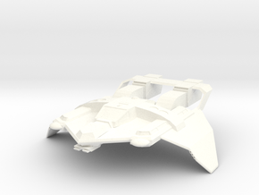 Federation Tactical Fighter in White Strong & Flexible Polished