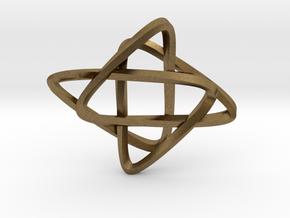Star of Mobius in Natural Bronze: Medium