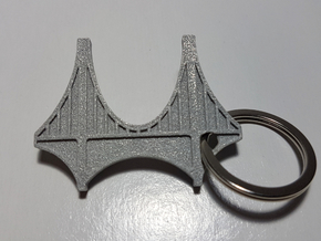 Bridge Keychain in Gray PA12