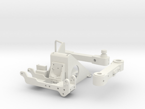 1:6 scale Hasbro HMMWV H24-6 mount and SA10 swing  in White Natural Versatile Plastic