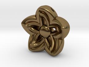 Kanzashi Pendant in Polished Bronze