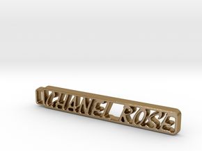 Chanel's Keychain! in Polished Gold Steel: Large