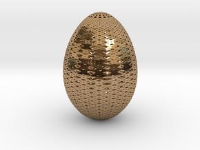 Designer Egg 3 in Polished Brass