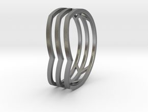 Chevrons Ring in Raw Silver: 5 / 49
