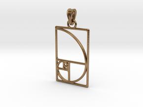 Fibonacci Pendant in Natural Brass (Interlocking Parts)