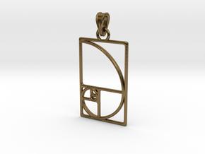 Fibonacci Pendant in Interlocking Polished Bronze