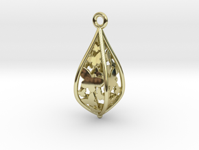 Butterfly freedom pendant in 18k Gold Plated Brass