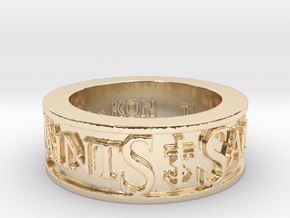 Saints Member Ring Size 10.5 in 14K Yellow Gold