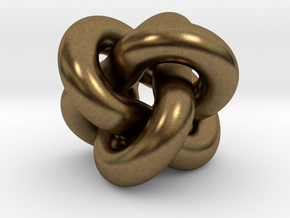 Borromean Rings Pendant in Natural Bronze (Interlocking Parts): Medium