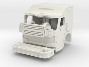 1/64 Rosenbauer 2 man raised roof cab in White Natural Versatile Plastic