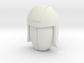 Cobra Commander Face (Titans Return) in White Natural Versatile Plastic