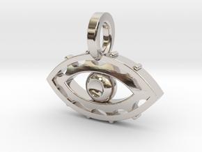 Evil Eye charm in Platinum