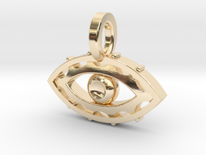 Evil Eye charm in 14k Gold Plated Brass