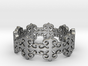 Rose Vines (Size 6-14) in Natural Silver: 6 / 51.5