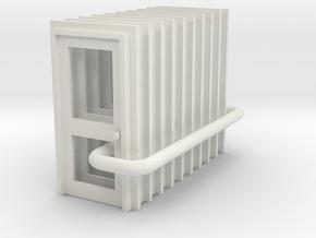 Door Type 2 - 900 X 2000 X 10 in White Natural Versatile Plastic: 1:76