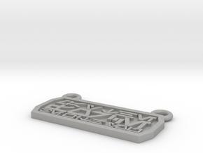 Aurebesh Pendant in Aluminum