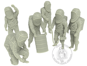 Hazmat Suit Sixpack in White Strong & Flexible: 1:48