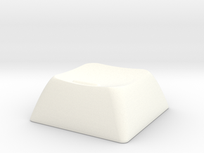 1S (with bump) ALPS/Matias compatible DSA keycap in White Processed Versatile Plastic