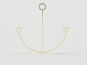 Minimalist Anchor Pendant in 14k Gold Plated