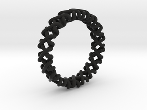 Coma Ring in Black Natural Versatile Plastic