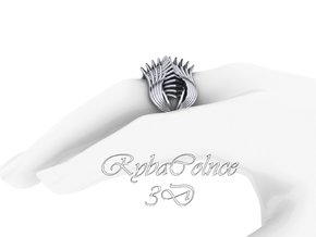 Ring The Iroquois 1 \ knuckle /size 8US (18,3mm) in Polished Silver