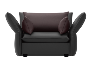 Mariposa Love Seat - Barber Osgerby in White Strong & Flexible: 1:24