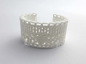 Leaf Anatomy Cuff - Science Jewelry in White Processed Versatile Plastic: Small