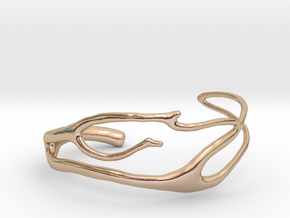 Coral 2 branch cuff in 14k Rose Gold