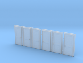 Door Type 4 - 810 X 2000 X 6 in Smooth Fine Detail Plastic: 1:148