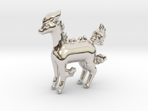Ponyta in Rhodium Plated Brass